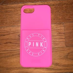 VS/Pink Apple iPhone 6/6s/7/8 Silicone Phone Case